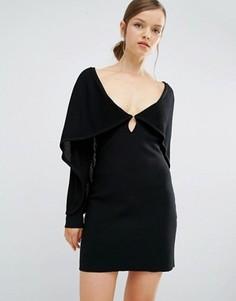 Платье с накидкой Asilio All That Fame - Черный