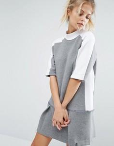 Платье-свитшот с заниженной талией Nike Premium Court - Серый