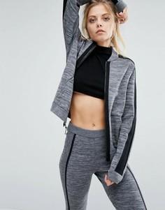Бомбер с вязаной вставкой Nike Premium - Серый