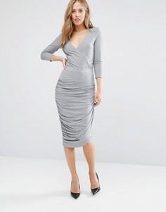 Трикотажная асимметричная юбка Supertrash Sarny - Серый