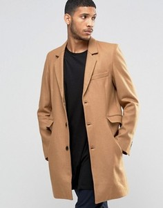 Бежевое пальто SikSilk - Бежевый