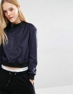 Свитшот с логотипом и высокой горловиной Calvin Klein - Черный