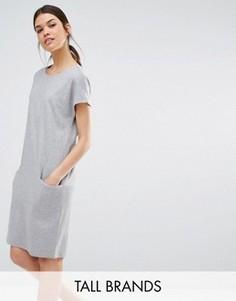 Цельнокройное платье с карманом Y.A.S Tall Evita - Серый