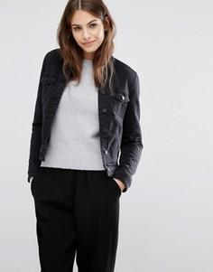 Джинсовая куртка с воротником борг Vero Moda - Черный