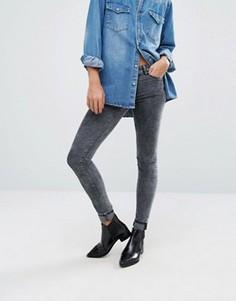 Выбеленные джинсы Vila - Черный