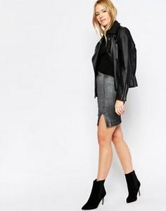 Облегающая мини‑юбка Minimum Piah - Серый