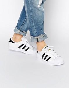 Черно-белые кроссовки adidas Originals Unisex Superstar - Белый