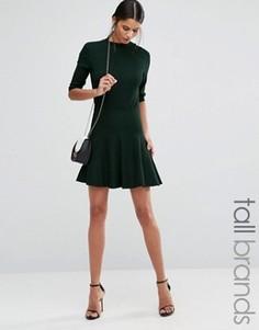 Мини-юбка со складками Y.A.S Tall Romain - Зеленый