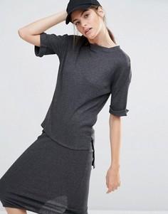 Комбинируемая легкая трикотажная футболка Daisy Street - Серый