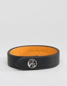 Черный кожаный браслет с логотипом PS By Paul Smith - Черный
