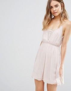 Платье-комбинация The Jetset Diaries Basilica - Розовый