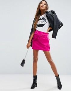 Мини-юбка с оversize-бантом в стиле 80-х ASOS - Фиолетовый