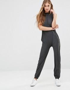Комбинезон в стиле casual с высокой горловиной Vero Moda - Серый