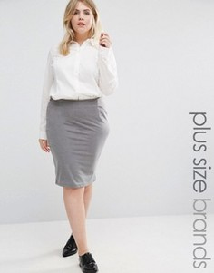 Трикотажная юбка-карандаш Junarose - Серый