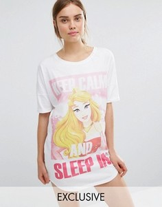 Ночная рубашка Missimo Disney Sleeping Beauty Keep Calm And Sleep - Белый