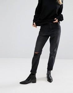 Состаренные джинсы в винтажном стиле Vero Moda - Черный