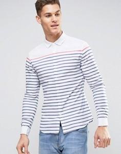 Белая оксфордская рубашка скинни в полоску ASOS - Белый