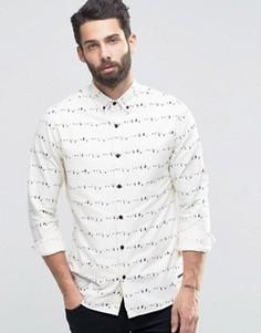 Оксфордская рубашка с принтом Only & Sons - Белый