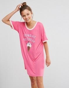 Ночная рубашка Chelsea Peers Monday - Розовый