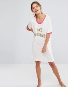 Ночная рубашка Chelsea Peers No Peeking - Кремовый