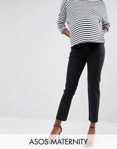 Прямые джинсы для беременных с посадкой под животом ASOS Maternity - Черный