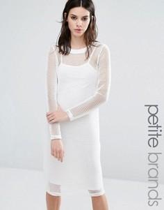 Облегающее платье с длинными рукавами Noisy May Petite - Белый