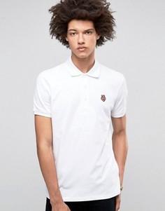 Футболка-поло с логотипом на груди Love Moschino - Белый