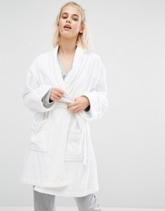 Махровый халат DKNY - Белый