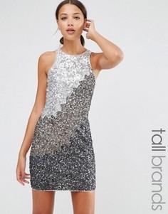 Цельнокройное платье с пайетками Maya Tall - Серый