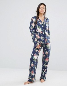 Пижамный комплект с принтом роз Wildfox - Мульти
