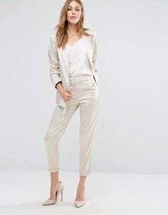Укороченные брюки Vila - Серебряный