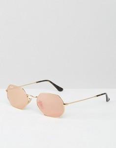 Солнцезащитные очки в шестиугольной оправе Ray-Ban - Золотой