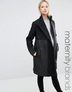 Пальто в строгом стиле Mamalicous Tikka - Черный Mama.Licious