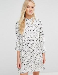Свободное платье в мелкий цветочек Newlily - Мульти