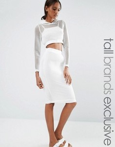 Сетчатая облегающая юбка Noisy May Tall - Белый