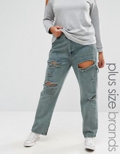 Рваные джинсы бойфренда Alice & You - Серый