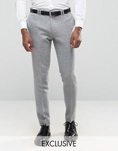 Зауженные брюки с отворотами Noak - Серый