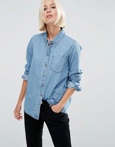 Светлая джинсовая рубашка ASOS - Синий