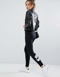 Черные леггинсы с логотипом Nike Leg A See - Черный