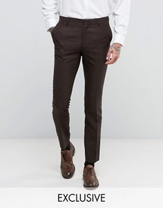 Зауженные брюки Number Eight Savile Row - Коричневый