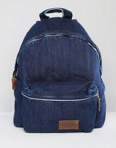 Уплотненный джинсовый рюкзак темного цвета Eastpak Pak R Kuroki - Синий