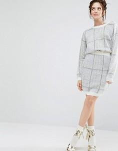 Комбинируемая мини-юбка в крупную клетку из комплекта Willow and Paige - Мульти