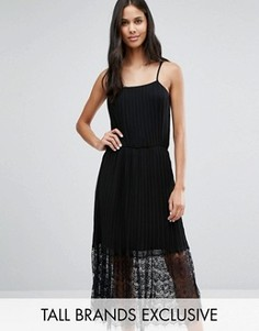 Кружевное платье миди Y.A.S Tall - Черный
