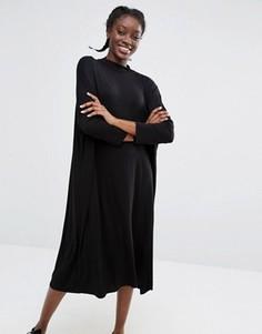 Свободное oversize-платье Monki - Черный