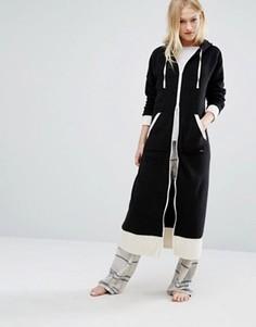 Халат с капюшоном DKNY - Черный