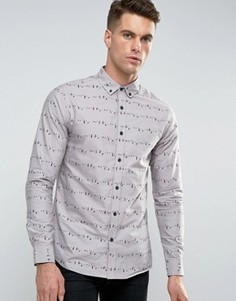 Рубашка Troy Aop - Серый