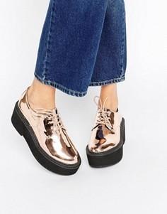 Туфли на массивной платформе ASOS OLANE - Золотой
