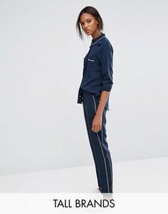 Брюки в пижамном стиле с окантовкой Vero Moda Tall - Темно-синий