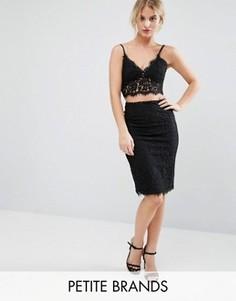 Кружевная юбка-карандаш Vero Moda Petite - Черный