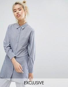 Ночная сорочка в полоску Lazy Days - Синий